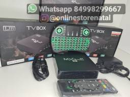 Tv box + teclado<br>64GB de memoria