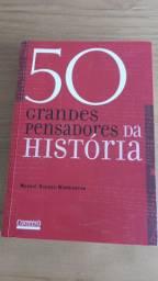 Livro 50 Grandes pensadores da História - Livro - Novo