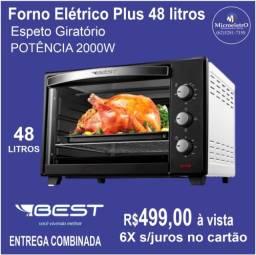 Forno Elétrico 48 Litros Best Com espeto giratório