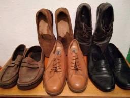 Vendo Lote de 5 sapatos sociais de couro tamanho 41