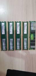 Peças para computador- memória, drive DVD, PCI wireless