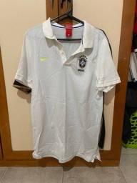 Camisa Seleção Olimpica 2016 Pre-match usada por gabriel jesus
