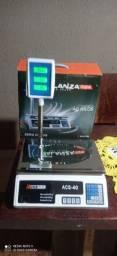 Balança digital com bateria acoplada com painel superior 40 kgs