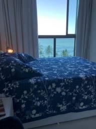 Flat mobiliado vista mar top | Novo Fino | Oportunidade
