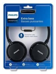 Headphone Fone Philips Extra Bass Preto Shl5005/00 Microfone