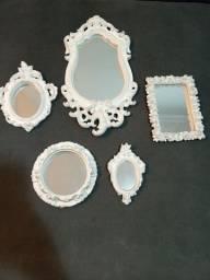 Kit 5 espelhos Provençal