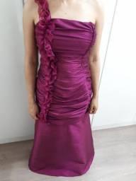 Vestido de festa longo - Tam 36-40 Fucsia