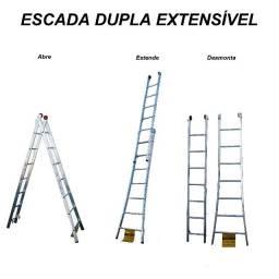 Escada Dupla Extensível de Alumínio