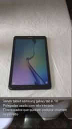 Tablet Samsung Galaxy smartphone 9.6 polegadas com tela trincada