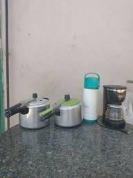 V/T garrafa, panela e cafeteira