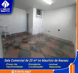 Sala Comercial de 25 m² para Locação em Caruaru/PE.