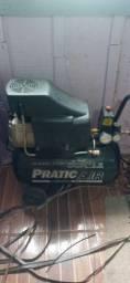 Compresor de ar uma granpiadeira ferro quente e uma tesoura