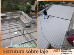 Estruturas metálicas sobre lajes, estruturas metálicas para casas, garagens,  ediculas
