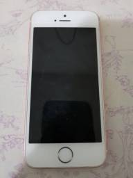 IPhone SE 16GB Rosê - Semi Novo - Completo. S/Biometria