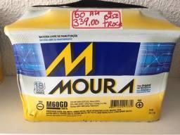 Bateria moura 60ah garantia 18 meses a base de troca