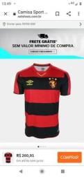 Camisa do Sport Umbro oficial R$ 160,00