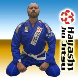 Kimono Hayashi jiu-jitsu trançado (novo) Acompanha uma faixa branca grossa de brinde