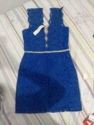 Vestido azul royal novo