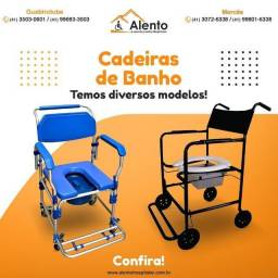 Cadeira de banhos e higienização alento hospitalar