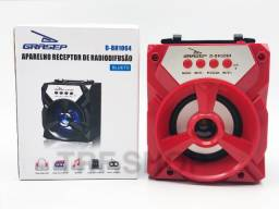 Caixa De Som Sem Fio Portatil Bluetooth Mp3 Cartão Sd Dd Bh1064 Grasep