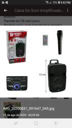 Caixa De Som Amplificadora Kimiso QS602 - 800W (P. M. P. O) VJ-R$490,00 / AT- 480,00