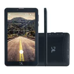 "Tablet DL Mobi Tab Tela 7"" 3G Dual Chip 1GB/8GB - Preto"