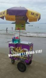 Carrinho de açaí para praia