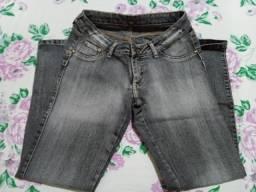 Calça Jeans Preto Pré Lavado - Tamanho - 42