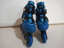 Patins Roller In-line (Azul) (Ajustável do 37 ao 40) BelSports