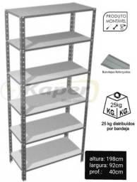 Promoção Prateleira de Aço Prof 40cm NB c / reforço ( nova )