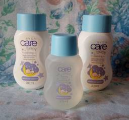 kit para bebê da Avon: colonia+ sabonete liquido + loção hidratante corporal. R$ 45,00