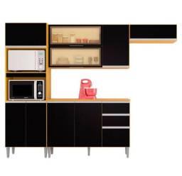 Cozinha Wanessa com balcão novo promoção montagem grátis