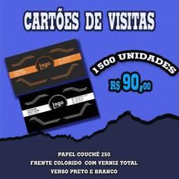 Cartões de visita frente colorida
