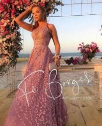 Vestido Linha Luxo Joana Juliao usado uma unica vez
