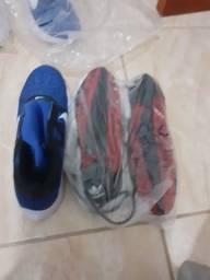Sapatos novos com promoção