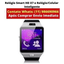 Relógio smart hd x7 o Relógio inteligente Celular!