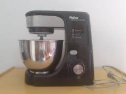 Batedeira Planetária Philco Turbo Inox PHP500 com 11 Velocidades ? Preta