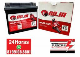Bateria Naja 5ah 5 amperes - Cg 125 Cg 150 Xre 300 xre 190
