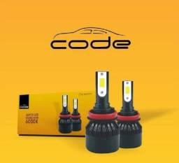 Kit LED H7 + H11 Code Novas Nunca Usada