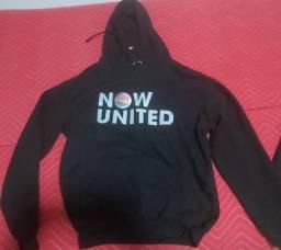 Blusa de moleton com capuz now united