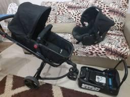 Carrinho de bebê safety 1st Moby + bebe conforto + suporte para carro