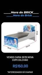 Cama infantil Menina Frozen com colchão - Seminova