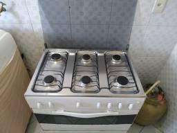 Fogão Esmaltec 6 bocas acendimento manual