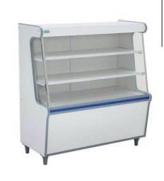 Balcão Vitrine Seco 1,00cm Artlux Branco Faixa Azul