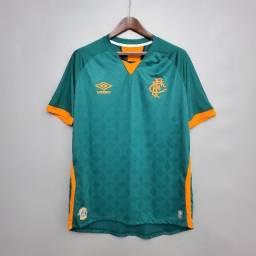 Camisa Fluminense Verde III 21 s/n° Torcedor Masculina P e G apenas