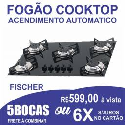 Fogão 5 bocas Cooktop  Mega Chama Fischer