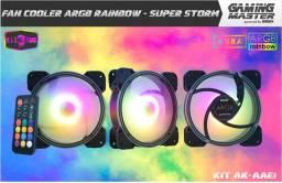 Kit Fan Cooler Argb Rainbow - Super Storm AK-AAE1 K-MEX (Entrega Grátis)