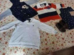 Lote de roupas menino 6 peças