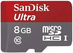 Cartão de Memória MicroSD Ultra de 8GB