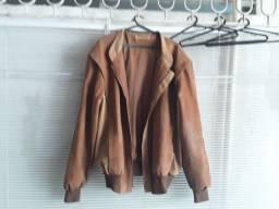 Jaqueta de couro italiana